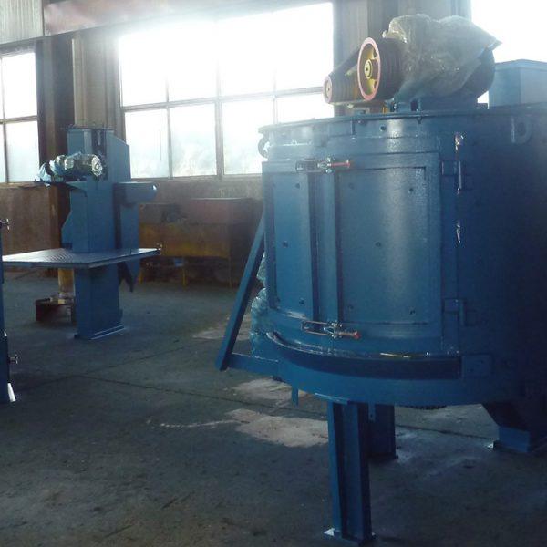 Дробеметная установка с вращающимся столом УИД-3515