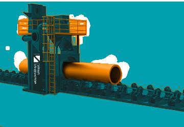Дробеметные установки для очистки труб